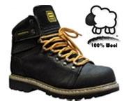 Odiniai auliniai batai pašiltinti 100% vilna