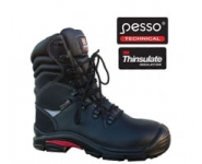 Odiniai darbo batai Pesso S3 Kevlar