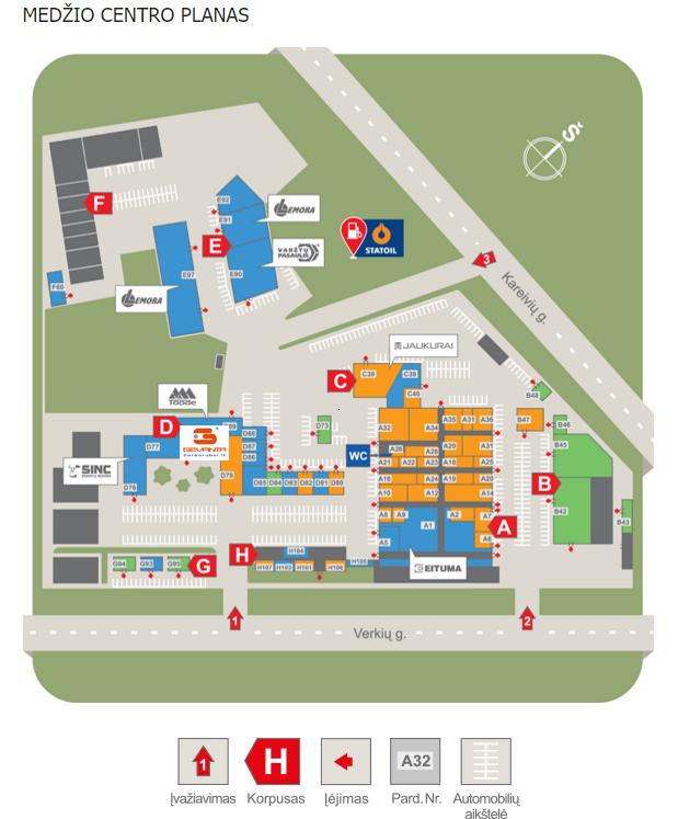 PC Medžio centras map
