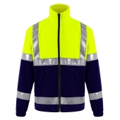High Visibility Sweater Pesso Fleece FL01G, yellow