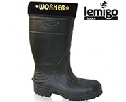 EVA boots with natural wool footbed Lemigo Worker 899