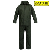 Rainwear Set coated in PU, green