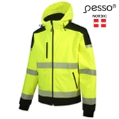 HI-VIS Safety Shell Jacket Top Swede 5217, yellow