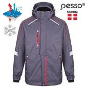 Теплая  водонепроницаемая куртка Pessa Тампере, серая