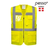 HIgh Visibility Vest Pesso, yellow pessosafety.eu