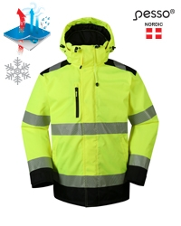 Waterproof Winter Jacket Pesso Montreal HI-VIS